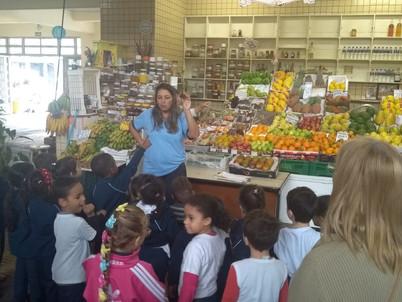 Jardim A - Professora Milene               Visita ao Mercado Municipal