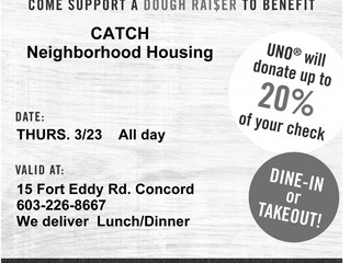 Eat Pizza and Support CATCH