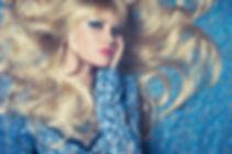 Blonde on Blue