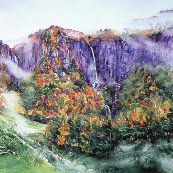 秋 - 霧の晴れ間