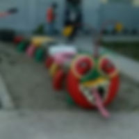 Chenille jouet colorée toute en pneu recyclés