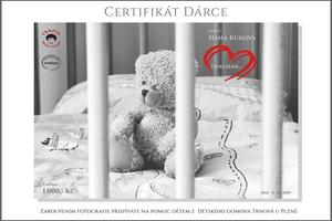 Certifikát dárce od Martin Lukač fotograf.