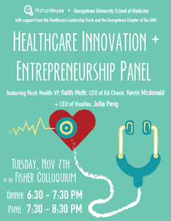 StartupHoyas MED Kick Off: Healthcare Innovation & Entrepreneurship Panel