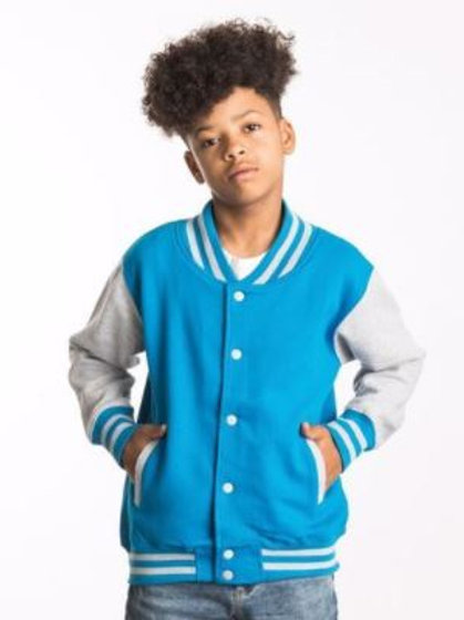 Youth - Varsity Jacket (with Heart Angel Embroidery Front & Back)