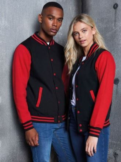 Adults - Varsity Jacket (with Heart Angel Embroidery Front & Back)