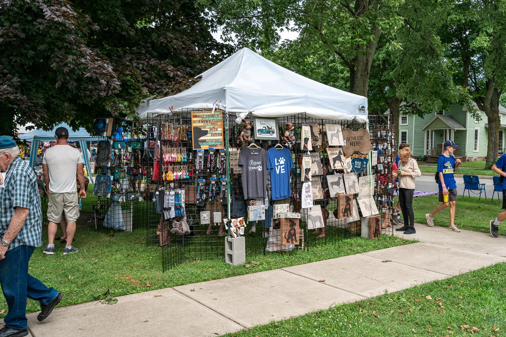 Vendors at Memorial Park