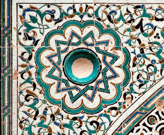 The beautiful and intricate geometric pa