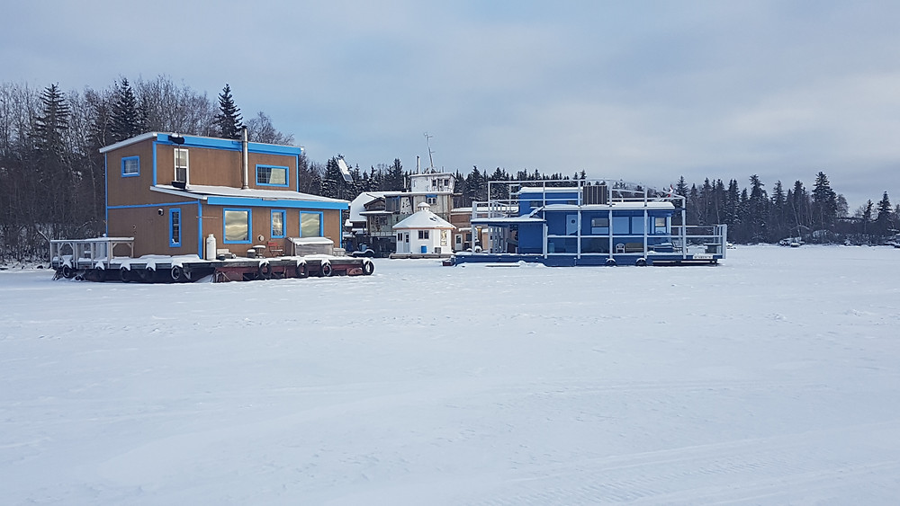 Houseboats on Great Slave Lake