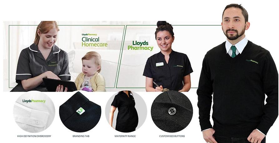 Lloyds Pharmacy Uniform Supplied by Xcel Bespoke Global Marketing