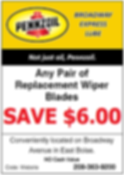 Wiper Blade Coupon - Boise Idaho - Save