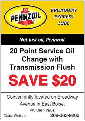 Preventative Vehicle Maintenance Coupons | Boise, Idaho | Broadway Express Lube (Pennzoil)