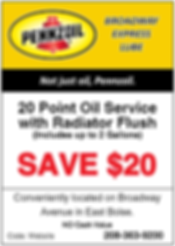 Vehicle Maintenance Coupons | Boise, Idaho | Broadway Express Lube (Pennzoil)