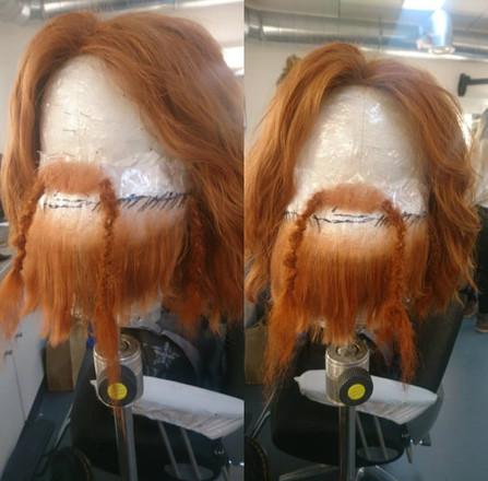 Handmade beard and moustache for Character Transformation
