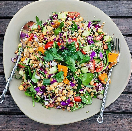 Rainbow Pulse Salad - the gut health die