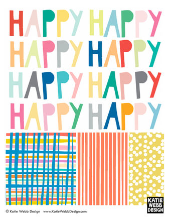 Happy Collection by Katie Webb Design