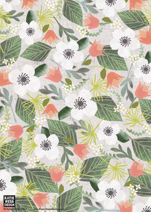 FLORAL PATTERNby Katie Webb Design
