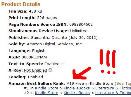 Stitch Reaches #19 on Amazon's Top 100 Free!