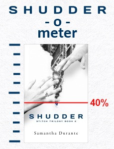 "Shudder-o-Meter climbs to 40%! ""You're killing me with these cliffhangers."""