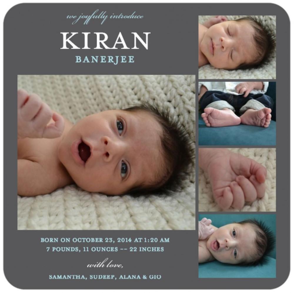 Kiran Birth Announcement