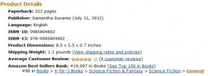 Stitch is #98 on Amazon's 4-for-3 Sci-Fi List!!!