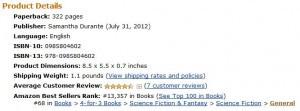 Stitch Reaches #68 on Amazon's 4-for-3 Sci-Fi Books
