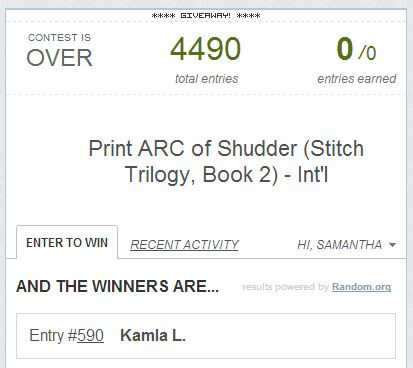 Congrats to Kamla, winner of the rare Shudder Print ARC!