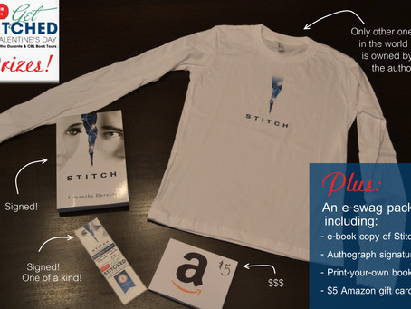 """Announcements: """"Get Stitched"""" Swag Pack Winners & Author of the Month"""
