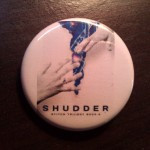 Buttons from the Shudder Surprise Launch Party