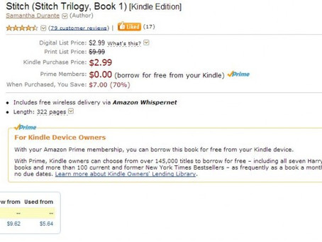 Announcement: Stitch available to borrow FREE from Kindle Owners' Lending Library