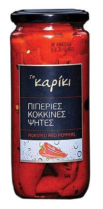 ΠΙΠΕΡΙΕΣ ΚΟΚΚΙΝΕΣ ΦΛΩΡΙΝΗΣ ΨΗΤΕΣ - RED ROASTED PEELED PEPPERS