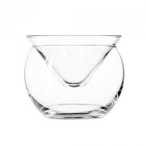 Martini Glass and Caviar Server