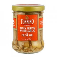 Tuna Fillets in Olive Oil w/ Capers & Garlic 6.7oz