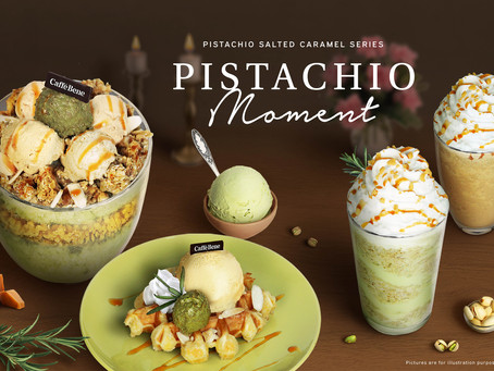 Caffe Bene推出Pistachio Moment,開心果竟然可以做成甜品,驚喜連連!