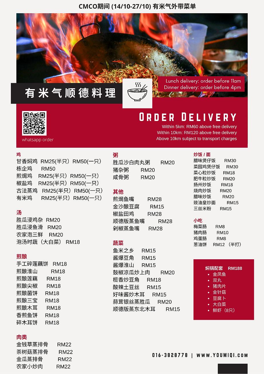 Red Dumpling Food Menu Business Flyer (2