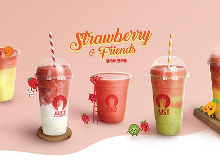 韓國人氣最高的Juicy推出粉紅浪漫草莓系列 - Strawberry & Friends