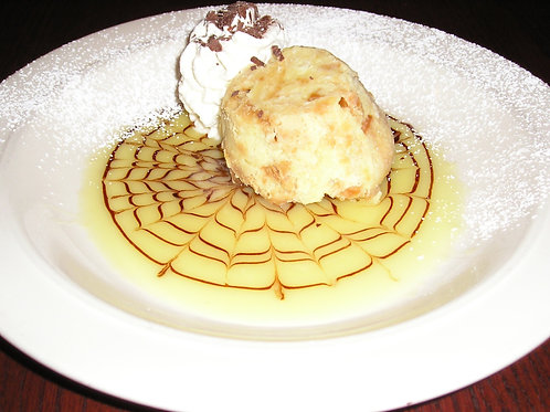 White Chocolate Bread Pudding single serving