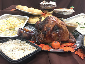 holiday re heat package.COmplete menu in a box