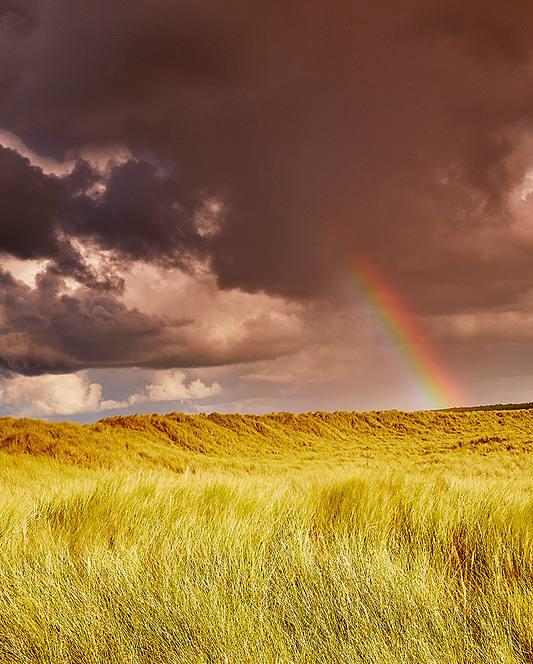Rainbow across the dunes