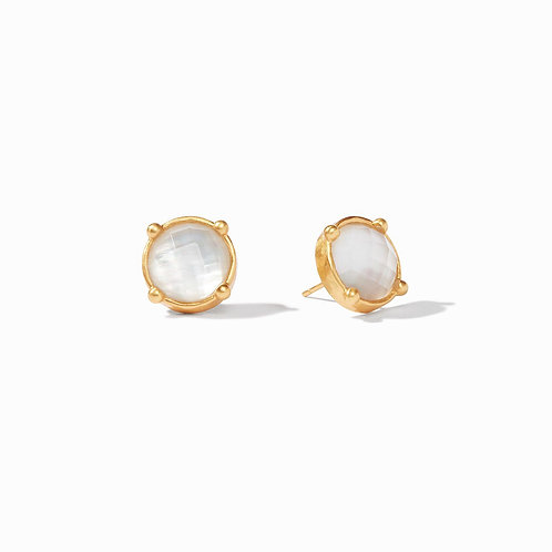 Julie Vos Honey Stud Iridescent Clear Crystal