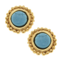 Susan Shaw Turquoise Dotted Stud Earrings