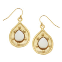 Susan Shaw Stone Tear Drop Earrings