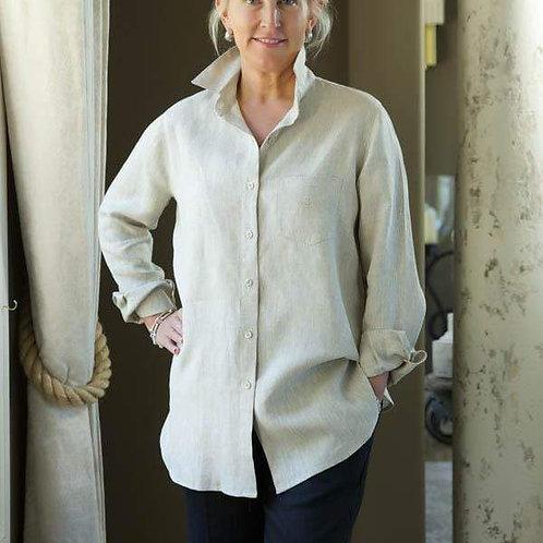 Classic Linen Buttonfront Shirt