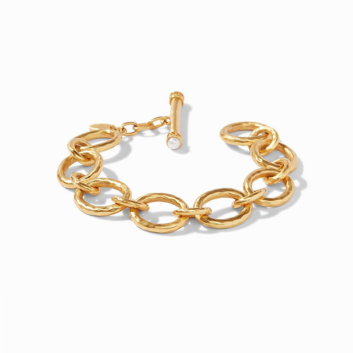 Julie Vos Catalina Small Link Bracelet Gold Pearl