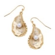 Susan Shaw Oyster & Pearl Earrings