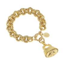 Susan Shaw Antique Bee Fob Bracelet