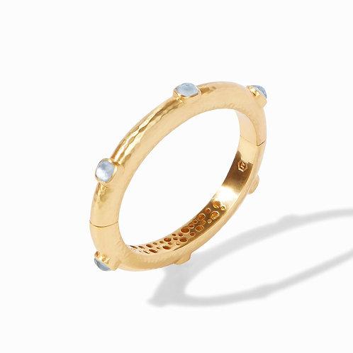 Julie Vos Catalina Hinge Bracelet Iridescent Chalcedony