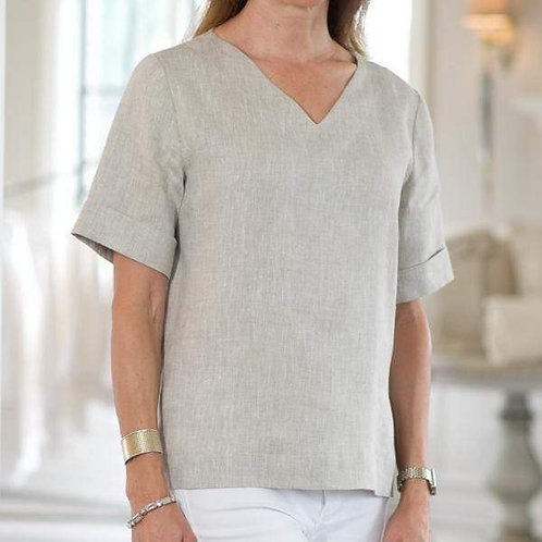 Jane Linen V-Neck Top