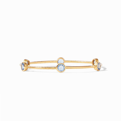 Julie Vos Milano Bangle Chalcedony Blue