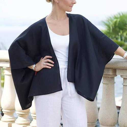 Iris Linen Kimono