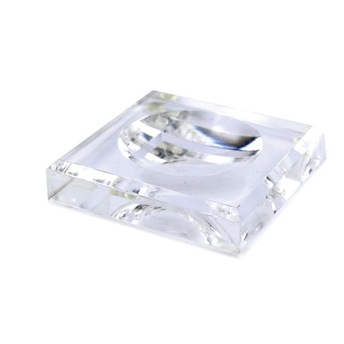 Acrylic Block Soap Dish Clear